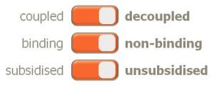 Decoupled Non-binding Unsubsidised
